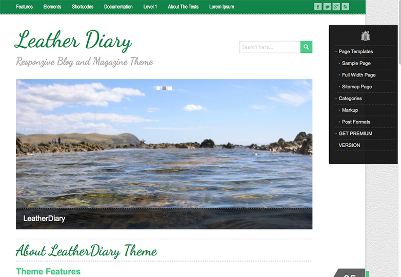 leather diary Free WordPress themes for March 2014