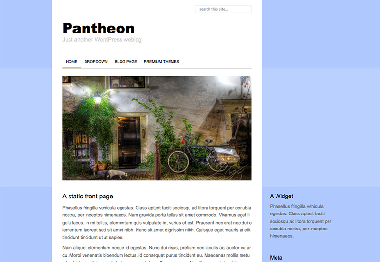 pantheon Free WordPress themes for March 2014