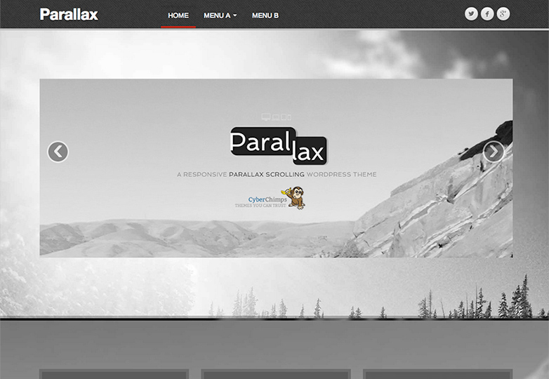 parallax Free WordPress themes for March 2014