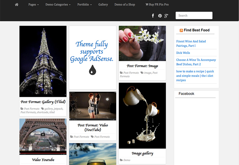 pr pin Free WordPress themes for March 2014