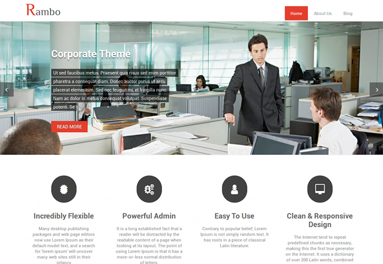rambo Free WordPress themes for March 2014