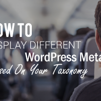How To Display Different WordPress Metabox Based On Your Taxonomy