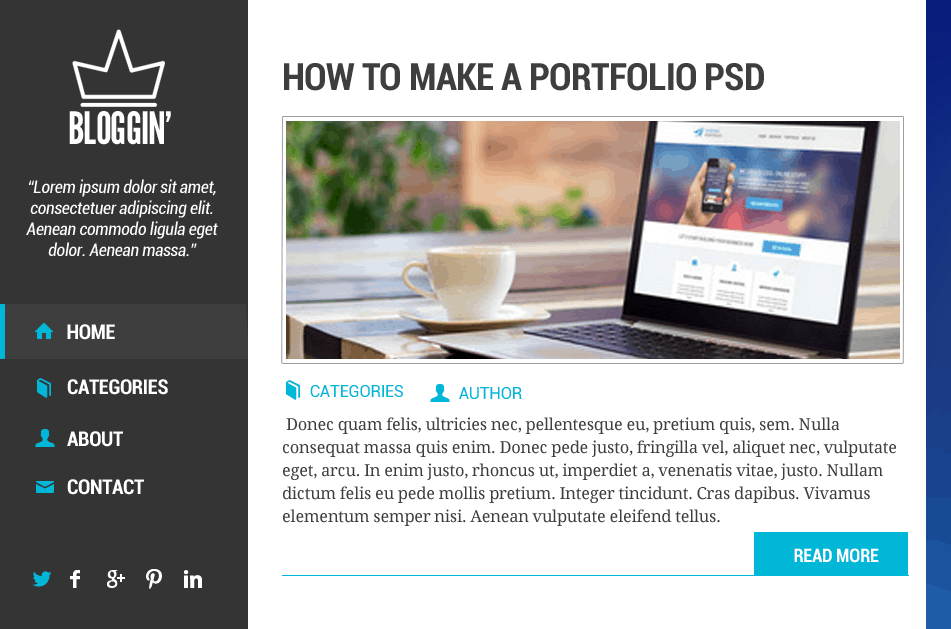 121 How to Make Blog Layout in Photoshop